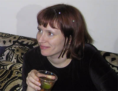 Sarah with drink