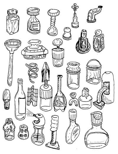 sometimes I go crazy and start drawing bottles and things
